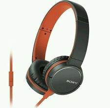 SONY MDR-ZX660AP Headphones - Orange. With Mic. FREE POSTAGE.