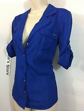 NWT bebe 3/4 SLEEVE ALYN SNAP SHIRT SIZE XS.Utterly luxe shirt,Gorgeous!62