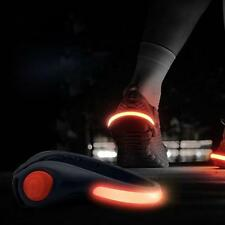 Hot 2pcs Night Safety Heel Sports LED Shoe Clip Bright Light For Running Cycling