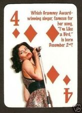 Nelly Furtado Neat Card  #8Y7 Whoa Nelly I'm like a Bird Força Singer Songwriter