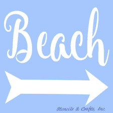 BEACH STENCIL NAUTICAL STENCILS OCEAN ARROW TEMPLATE CRAFT MARINE ART PAINT NEW