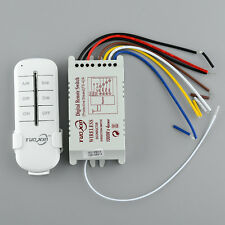 4 Way Channel Efficient Wireless ON/OFF Light Switch Box Digital Remote Control