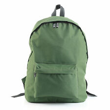 "Canvas Daily Casual Backpacks Bags Front Pocket For 14"" Laptop Color Green"
