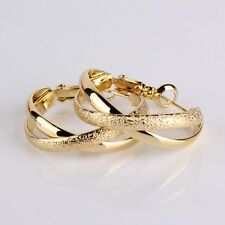 14k gold filled Engagement vogue woman fashion BRAND NEW hoop earring