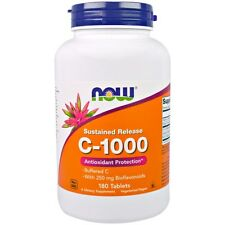 Now Foods, C-1000, Buffered C, Sustained Release, 180 Tablets
