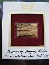 YANKEE STADIUM NEW YORK PLAYING FIELD replica Gold Golden Cover Stamp FDC 2001