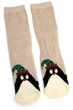 LADIES FESTIVE PENGUIN WITH PARTY HAT CHRISTMAS SOCKS UK 4-8 EUR 37-42 USA 6-10