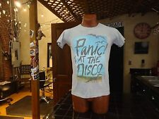 (W) Panic! At The Disco gray sm t-shirt, American pop/rock band from Las Vegas