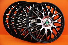 "15"" Skoda Roomster,Fabia,Octavia,etc...Wheel Trims / Covers, Hub Caps,black&silv"