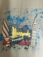 Vintage Harrods Department Store London England Icons Souvenir Tee Shirt M