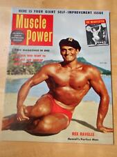 MUSCLE POWER bodybuilding fitness magazine/REX RAVELLE 7-54