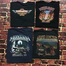 Harley Davidson Tee Lot Size XL X-Large T-Shirt Set of 4 HD Motorcycles Gear USA