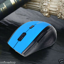 2.4Ghz Wireless Optical Gaming Mouse Mice Usb 2.0 For Computer Pc Laptop Blue