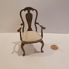 MINIATURE FANCY CHAIR HAND PAINTED DESIGN WITH PADDED SEAT