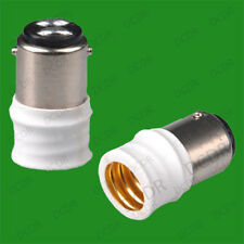 Small Bayonet SBC B15 To Small Screw E14 SES Light Bulb Adaptor Converter Holder