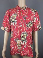 Men's Red Polo Ralph Lauren Hawaiian Shirt 100% Cotton Aloha Camp Floral XXL