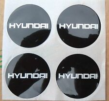 HYUNDAI ALLOY WHEEL CENTRE BADGE INSERTS QUALITY NEW OLD STOCK 49 MM X4 COUPE