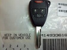 Jeep 4 button Remote Start Key  OEM 2007 2008 2009 2010 2011 2012 2013 2014
