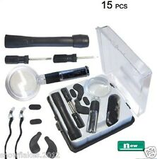 EYEGLASS REPAIR KIT - 15 PIECE /  WITH 1 PLASTIC STORAGE CASE