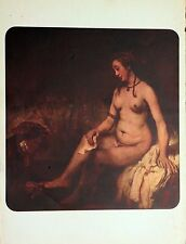 Batsheba by Rembrandt Louvre Museum, Ofset Lithograph 1939