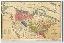 NEW Social Studies Classroom POSTER - Vintage Map of Native American Tribes