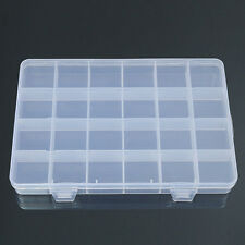 24 Compartments Plastic Box Case Bead Storage Container Craft Organizer Stunning
