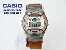 CASIO VINTAGE SAMMLUNG BGM-100L BABY-G G-SHOCK RESIT TOUGH LABEL