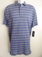 Michael Kors Men's Blue Linen Cotton Short Sleeve Polo Shirt Size XL Sale