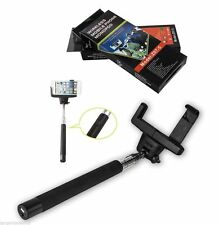 Extendable Selfie Stick Monopod with Built-in Bluetooth Remote Wireless Shutter