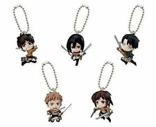 Bandai Attack on Titan Shingeki no Kyojin Key chain Figure Figurine Set of 5