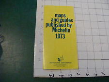 vintage paper item - maps & guides published by MICHELIN 1973