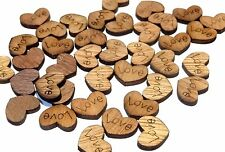 100 x Rustic Wooden Love Heart Wedding Table Scatter Decoration