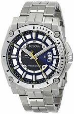 Bulova Men's 96B131 Precisionist Black Dial Steel Bracelet Watch