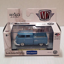 M2 Autothentics 1:64 Scale 1959 VW Volkswagen Double Cab Pick Up - Blue