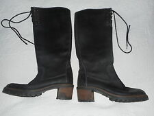 Hobbs Blue Leather Winter Boots Size 4 37