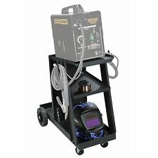 NEW! MIG TIG WELDING CART! FREE SHIPPING!! 100 LB. CAPACITY TILTED TOP SHELF!