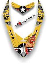 SKI DOO REV XP SNOWMOBILE SLED GRAPHICS DECAL Sticker Hood Aircraft Pinup Yellow