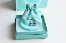 Tiffany & Co Silver & 18k Gold Double Open Sentimental Hearts Necklace 18""