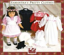 "Samantha Doll Dress Patterns by Pleasant Company 18"" Doll The American Girl Doll"