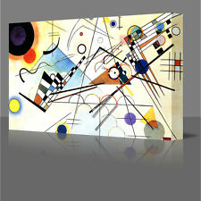 ABSTRACT KANDINSKY STYLE COMPOSITION LARGE A3 CANVAS MODERN ART PICTURE
