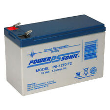 Power-Sonic BATTERY 12V 7AH WIDE TERMINAL APC ES500 RBC2 BE500U BACK-UPS FREE SH