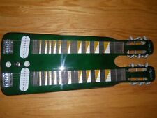 SOJING BRAND NEW DOUBLE NECK LAP STEEL GUITAR(GREEN)