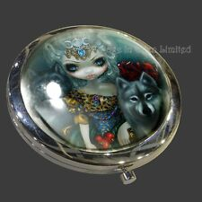 *LOUP GAROU: LA GRANDE PRETRESSE* Wolf Compact Mirror By Jasmine Becket-Griffith