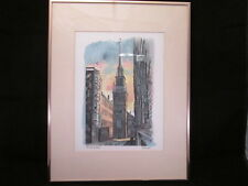 """RE Kennedy Framed & Matted Art Print The Old North Church 1974 18-1/4""""x14-1/4"""""""