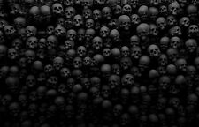 A4 Poster – Wall of Human Skulls (Picture Print Grim Gothic Horror Death Art)