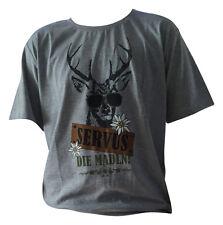 Shirts Herren Trachtenhemden Trachtenshirts  T-Shirts Freizeitshirsts Grau S Neu