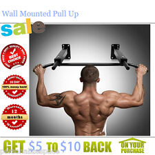 Heave-Gauge Steel Wall Mounted Pull Up Bar 10 PRO-Grade Foam Covered Handle