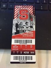 2016 NC STATE WOLFPACK VS OLD DOMINION COLLEGE FOOTBALL TICKET STUB 9/17 NCAA