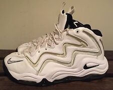 RARE 2009 NIKE AIR PIPPEN WHITE SILVER GREY Size 10 Uptempo yeezy Bulls penny