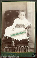 Cabinet Photo - Bucyrus, Ohio - Close Up, Baby With Dark Eyes In Chair W/Tassles
